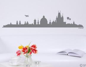 Wandtattoo Prag Skyline