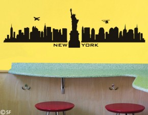 Wandtattoo New York Skyline