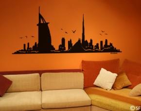 Wandtattoo Dubai Skyline