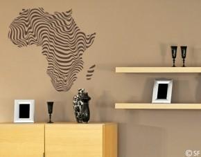 Wandtattoo Afrika Zebra