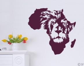 Wandtattoo Afrika Löwe