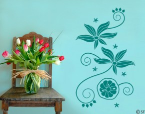 Wandtattoo Passiflora