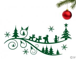 Wandtattoo Weihnachtsland