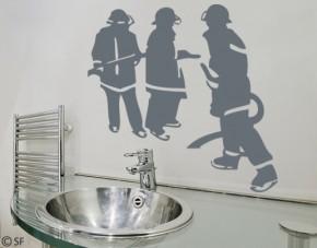 Wandtattoo Feuerwehr-Leute