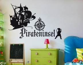 Wandtattoo Pirateninsel
