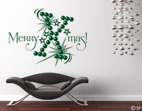 Wandtattoo Merry Xmas