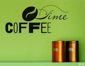 Wandtattoo Coffee Time