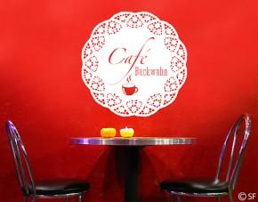 Wandtattoo Café Wunschtexttattoo