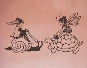 Wandtattoo Reitende Elfenkinder