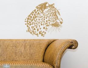 Wandtattoo Leopardenportrait