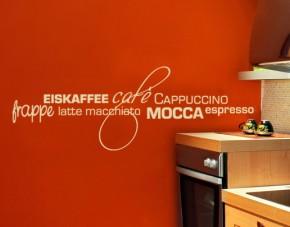 Wandtattoo Caféwelt