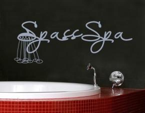 Wandtattoo Spass Spa