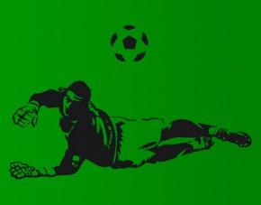Wandtattoo Fußball-Torwart