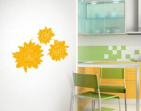 Wandtattoo Sunny Flowers