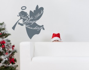 Wandtattoo Weihnachtsengel