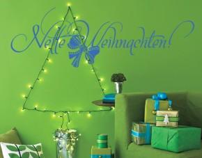 Wandtattoo Nette Weihnachten