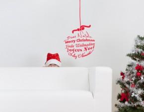 Wandtattoo Weihnachtsgrüße
