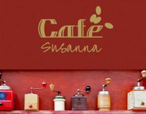 Wandtattoo Cafe Wunschtexttattoo