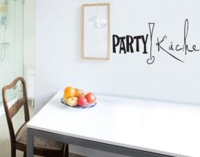 Wandtattoo Partyküche