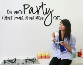 Wandtattoo Die beste Party