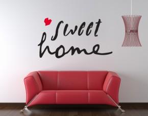 Wandtattoo Sweet Home 2-farbig