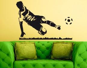 Wandtattoo Fußball-Spieler