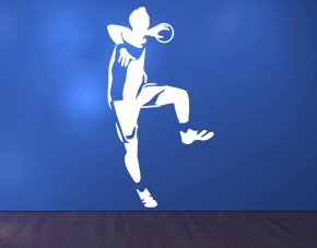 Wandtattoo Handball Siebenmeter